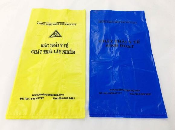 Túi nilon đựng rác và chất thải y tế
